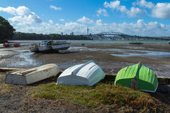 Dinghy at Little Shoal Bay Reserve Beach Auckland New Zealand Royalty Free Stock Photos
