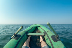 Dinghy na jeziorze Fotografia Stock