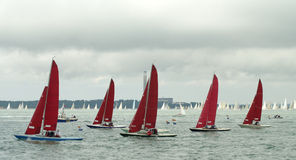 Dinghy Racing at cowes Week 2010 5 Stock Photos