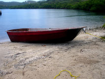 Dinghy Ready To Go, Caribbean, Puerto Rico, Culebra. A dingy prepares to leave on a adventure Royalty Free Stock Images