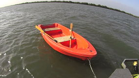 Dinghy Row Boat Full Sun stock video footage