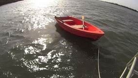 Dinghy Row Boat stock video footage