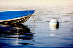 Dinghy tied up for the night Royalty Free Stock Images