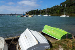 Dinghys at Little Shoal Bay Reserve Beach Auckland New Zealand Stock Photography