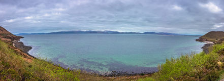 Dingle bay peninsula. Panorama as seen from the Ring of Kerry scenic road, Ireland Stock Photo