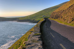 Dingle coast road. Panoramic coastal road in Dingle Peninsula  . Ireland Royalty Free Stock Photography