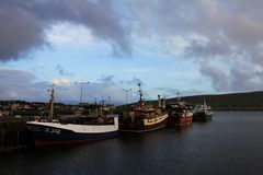 Dingle Harbour with fishing boats Royalty Free Stock Photo