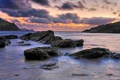 Dingle Peninsula. Rugged seascape - evening light - sunset on Dingle Peninsula, Co.Kerry, Ireland Royalty Free Stock Image