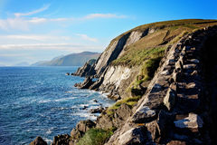 Dingle Peninsula. Cliffs off Slea Head Drive in Dingle Peninsula, Ireland Stock Photography