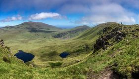 Dingle Peninsula. A view of a valley and green hills on the Dingle Peninsula in Ireland Royalty Free Stock Photo