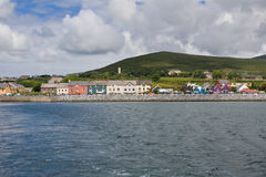 Dingle town. Seen from Dingle bay in Ireland stock images
