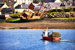 Dingle Wreck. Boat coming in to dingle Harbour,Co.kerry,Ireland Royalty Free Stock Photo