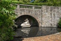 Dingleblommaträdgårdar Shrewsbury royaltyfria foton