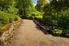 Dingleträdgårdar Shrewsbury fotografering för bildbyråer