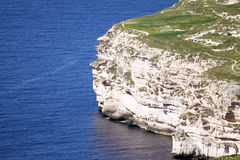 Dingli cliffs. Part of dingli cliffs found in mediterranean island of malta Royalty Free Stock Photos
