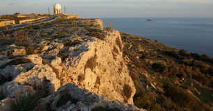 Dingli Cliffs and Aviation Radar Royalty Free Stock Photo