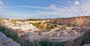 Dingli cliffs. Carrier near Dingli cliffs on Malta island Stock Photography
