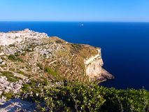 Dingli cliffs and Fifla island stock images