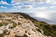 Dingli cliffs on Malta island. High Dingli cliffs on Malta island. Beautiful landscape in south Europe Stock Image