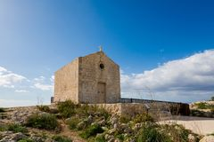 Dingli cliffs on Malta island. High Dingli cliffs on Malta island. Beautiful landscape in south Europe Stock Photography