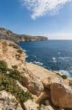 The Dingli Cliffs in Malta. Views of the mediterranean sea from the Dingli Cliffs (Rdum ta' Had-Dingli) in Malta Stock Photos