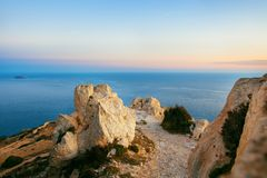 Dingli Cliffs, Malta. Dingli Cliffs, one of the most beautiful parts of the shore at the island Malta Stock Photos