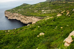 Dingli, Malta. Panoramic view of Dingli, Malta Royalty Free Stock Photography