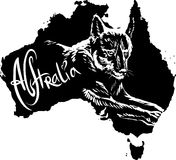 Dingo as Australian symbol Stock Images