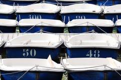 Dingy boats. In Retiro Park (Parque del Retiro) in Madrid, Spain Royalty Free Stock Photo