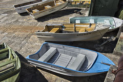 Dinghy boats out of water Stock Photos