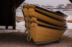 Dingys -神秘的海口,康涅狄格,美国 库存图片