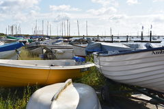 Dingys amd boten Royalty-vrije Stock Afbeelding
