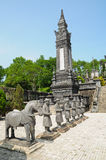dinh传统khai的雕象 免版税库存图片