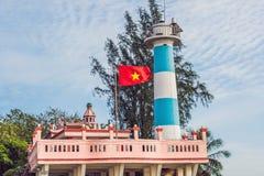 Dinh Cau海岛Phu Quoc,越南的灯塔标志 Phu 图库摄影