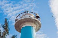 Dinh Cau海岛Phu Quoc,越南的灯塔标志 Phu Quoc是越南海岛在离柬埔寨的海岸的附近  免版税库存照片