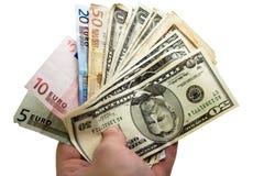 Dinheiro à disposicão Imagem de Stock Royalty Free