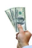 Dinheiro à disposicão Imagem de Stock