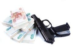 Dinheiro é um crime Fotografia de Stock Royalty Free