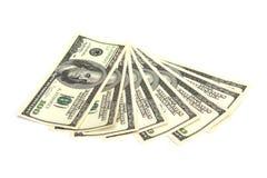 Dinheiro - 100 contas de dólar Fotos de Stock Royalty Free