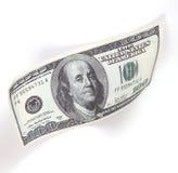 Dinheiro, 100 dólares Imagens de Stock Royalty Free