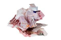 Dinheiro amarrotado Fotografia de Stock Royalty Free