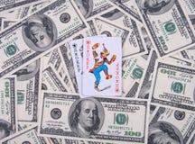 Dinheiro & cartões Imagens de Stock