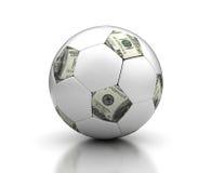 Dinheiro & futebol Fotografia de Stock Royalty Free