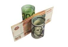 Dinheiro arranjado como uma porcentagem Imagem de Stock Royalty Free