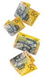 Dinheiro australiano, caindo fotografia de stock royalty free