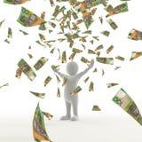 Dinheiro australiano que cai do céu Foto de Stock