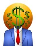 Dinheiro bem sucedido do homem de negócios Fotos de Stock Royalty Free