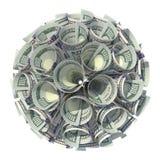 Dinheiro Bola dos dinheiros finanças Negócios Dólares Fotos de Stock Royalty Free
