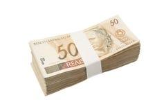 Dinheiro brasileiro amarrado Fotografia de Stock