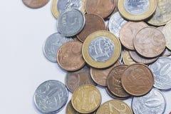 Dinheiro brasileiro do tipo real do dinheiro fotografia de stock royalty free